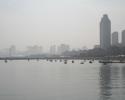 Вид на город с пляжа Xinghaiwan