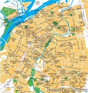 Городская карта плохого качества