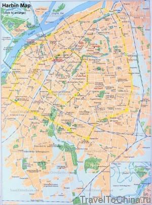 Карта Харбина (eng)