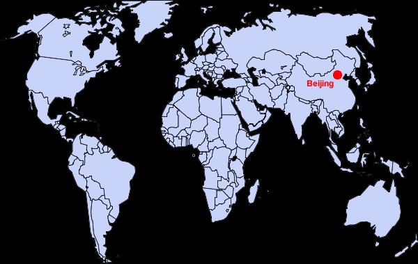 Пекин на карте мира